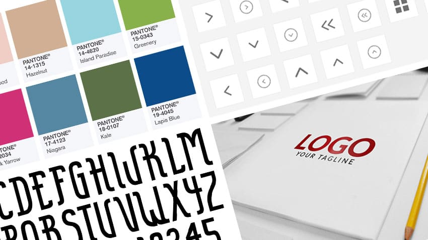 Color swatches, icons, and other graphic assets