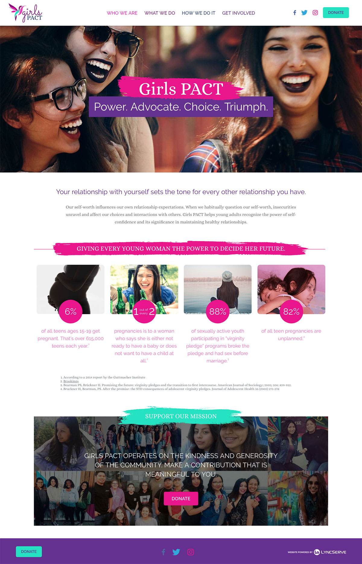 Girls PACT Website on different devices